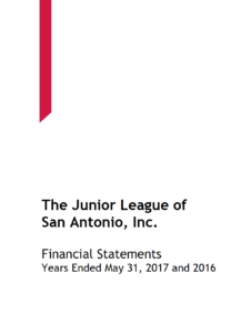 Junior League of San Antonio 2016-17 Financial Audit
