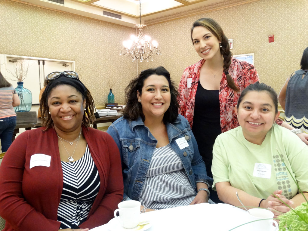 Volunteer Training Event From L to R: Valayia Jones-Smith, Stephanie Reese, Melissa Paschall, & Vanessa Leal